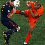 Kung-fu soccer at world cup finals not liked by referee Webb
