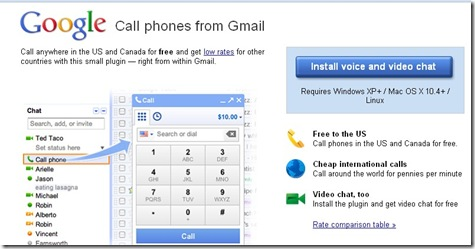 Google phone service Gmail