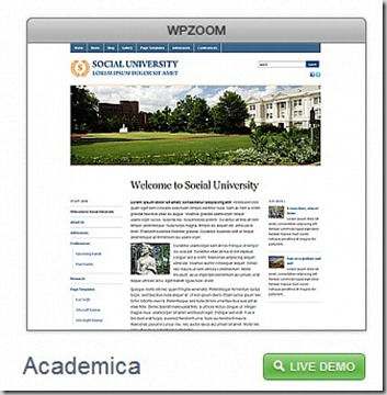 wp zoom Academica theme free premuim wordpressblog theme