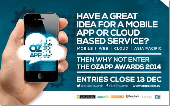 dates and details of oz app austrlia competition