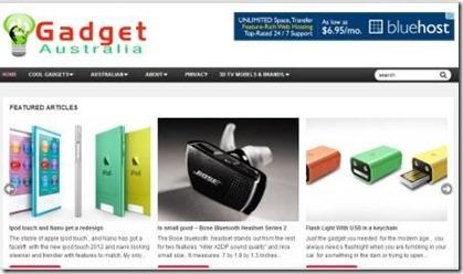 gadget australia webite with samrter charger