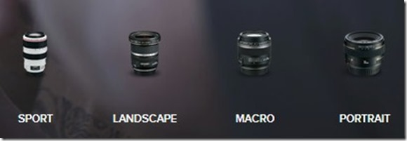 theh canon sports and lanscape lenses