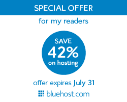 THE hosting offer 42% off at 3.49 a month websitehosting price from bluehost.COM