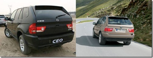 Difference bmw x 5 vs china fake shughuan ceo