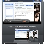 Embed playlists of different videos from you tube , Daily motion Etc  With a nice Video player