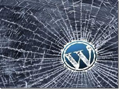 wordpress blog broken not loading change theme