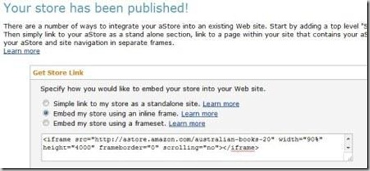 create amazon page website Integrate amazon html code for wordpress
