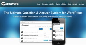 Online answers wordpress site plugin