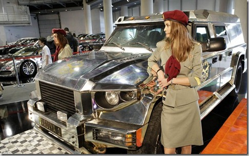 chicks with dartz motors luxury aladeen dictator car