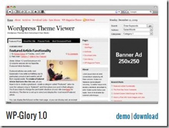 WP-Glory 1.0 solostream free premuim templates