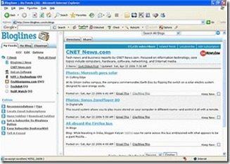 bloglines web based newsreader browser