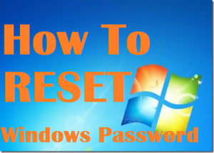 Reset your windows 10 password in under 5 minutes