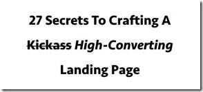 27 secrets  to landing pages download review