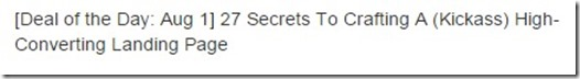 secrets of landing pages deal of the day review
