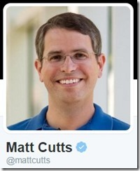 matt cutts on twitter  with seo block for new domain