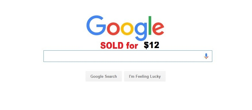 the google.com accidental sale for $12 and purchase