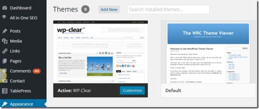 2 add new themes upload and search installed themes