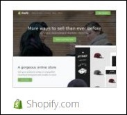 the shopify.com storefront platform for business