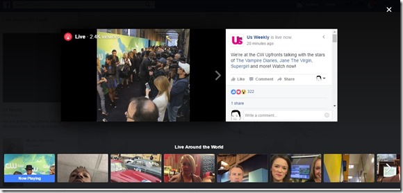facebook does a persicope with live launch