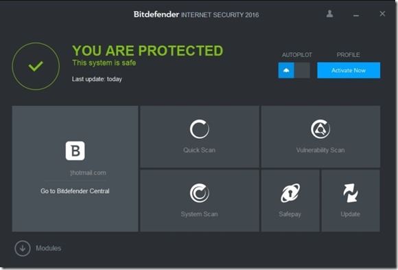 picture of bit defender software