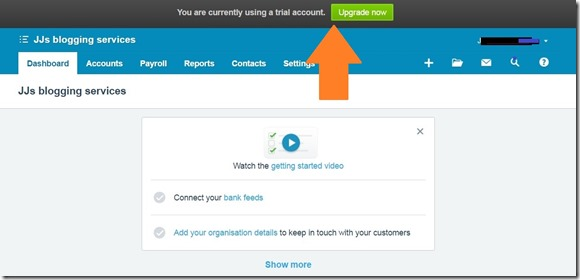 welcome to xero screen 8 step registered