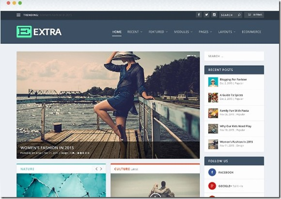 extra divi based theme template