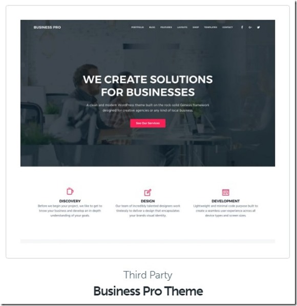 business pro wp theme