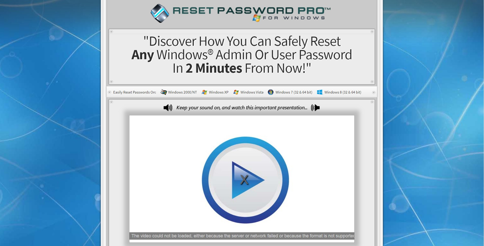 reset password on windows vista