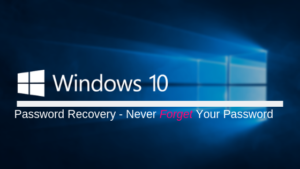 recover lost win 10 password