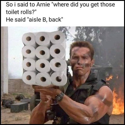arnie i will be back toilet rolls